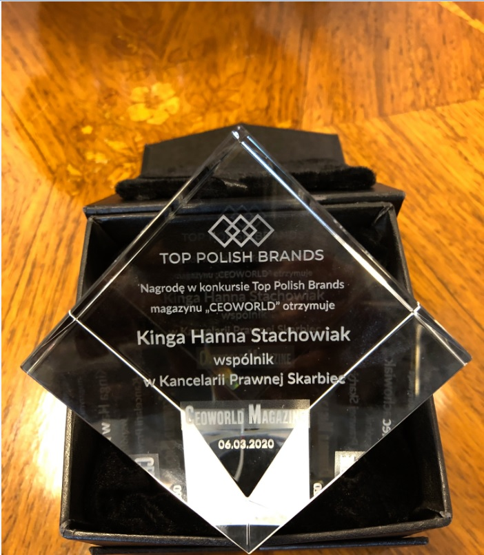 Kinga Hanna Stachowiak laureatką Top Polish Brands 2020